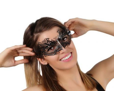 Party Mask Black Lazer cut Halloween Masquerade Creepy Trick Treat